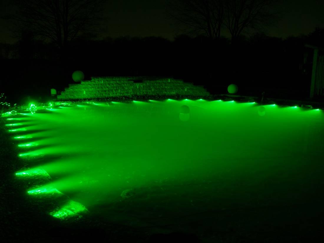 Lichtleitfaser Teichbeleuchtung