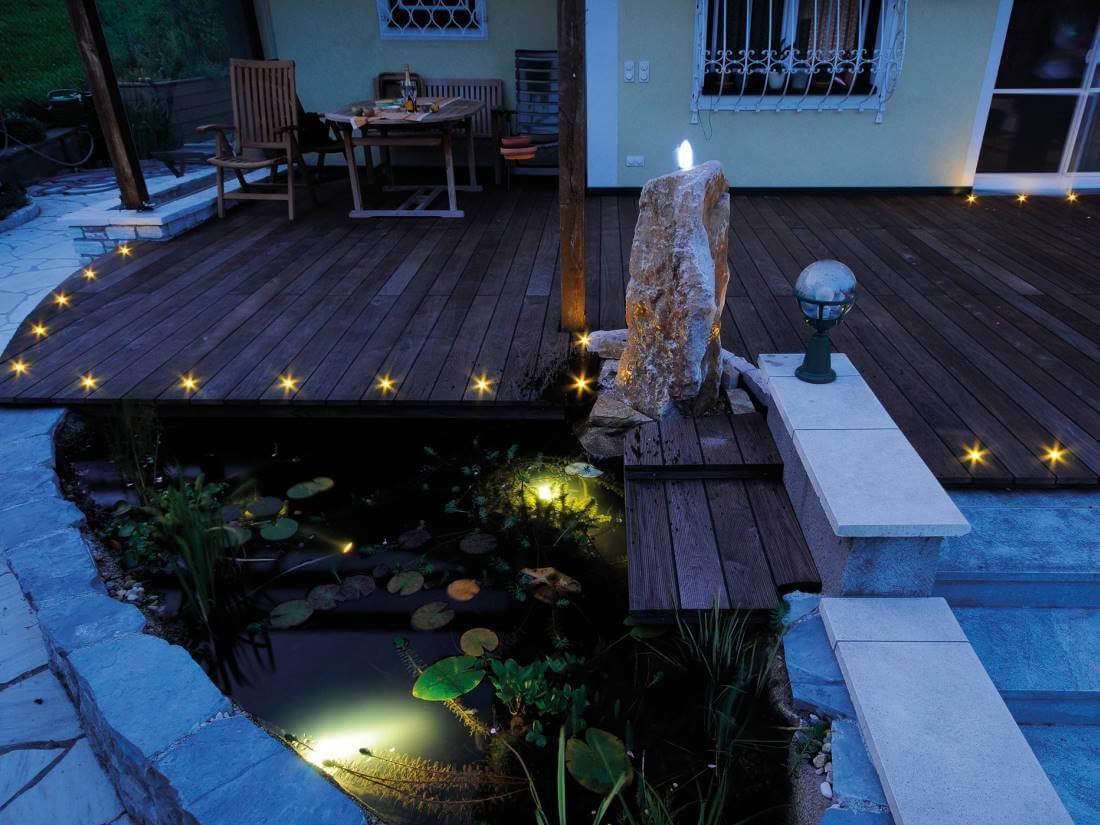 Lichtpunkte Terrasse