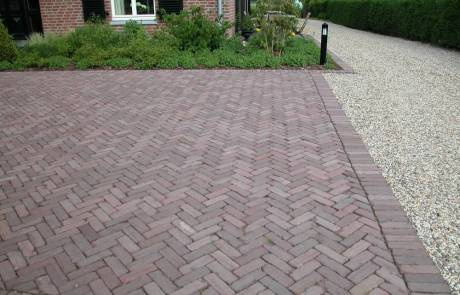 Altes gebrauchtes holländische Klinkerpflaster neu verlegt