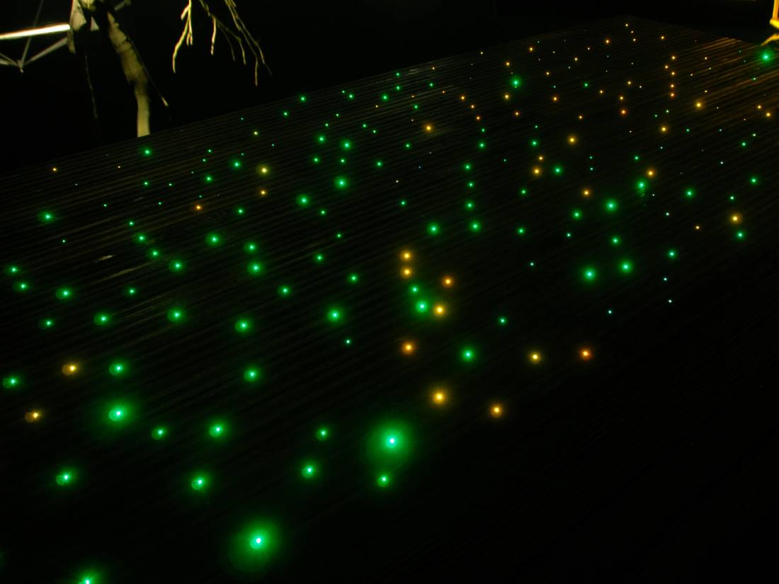 Sternenboden Lichtleitfaser Garten