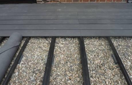WPC Jumbo-Terrassendiele mit Unterkonstrucktion