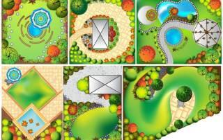 diverse Beispiele zur einfachen Gartenplanung