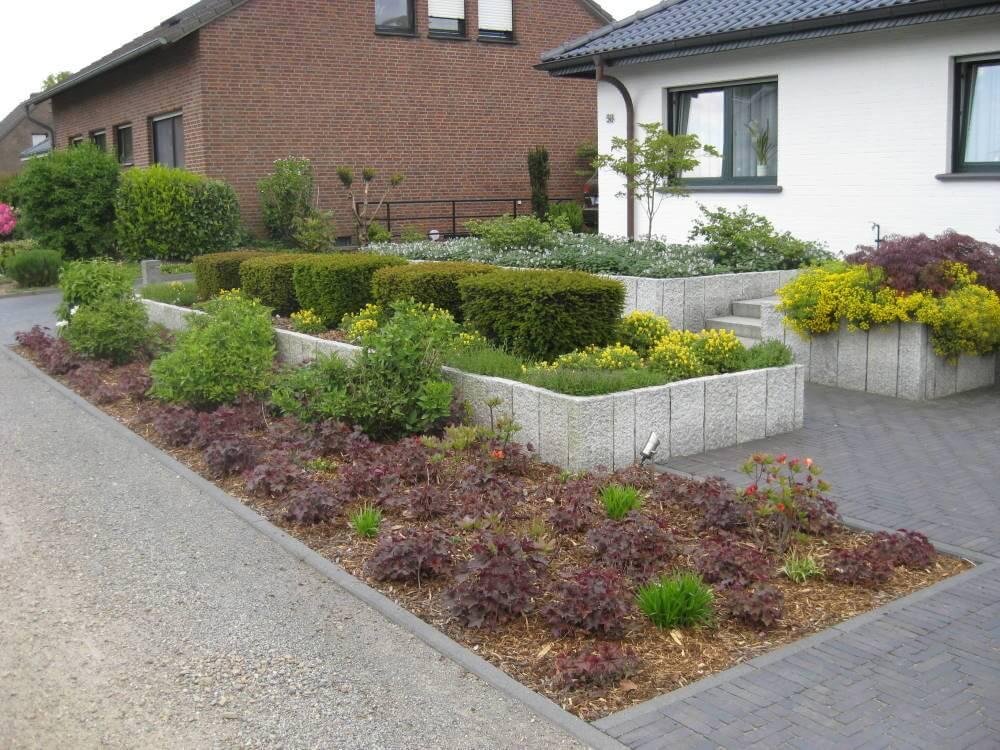 Moderner Vorgarten. Vorgarten Gestalten