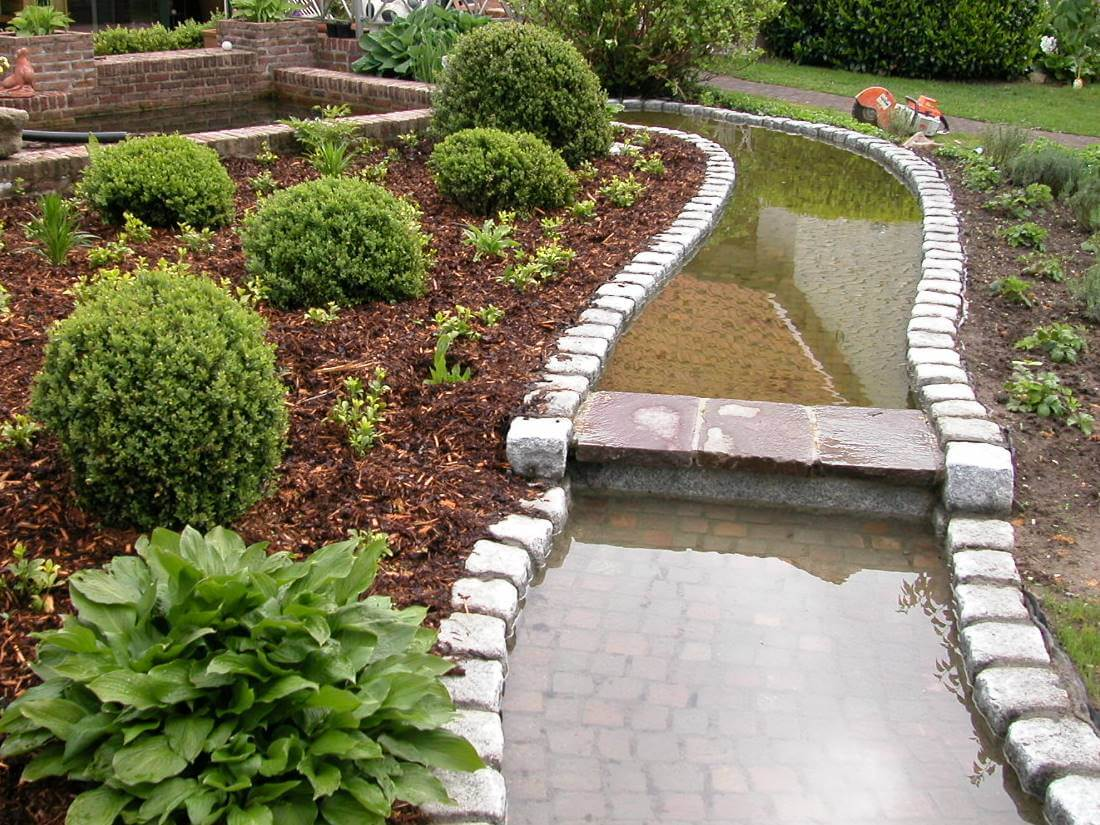 wasserlauf modern – controng, Garten seite