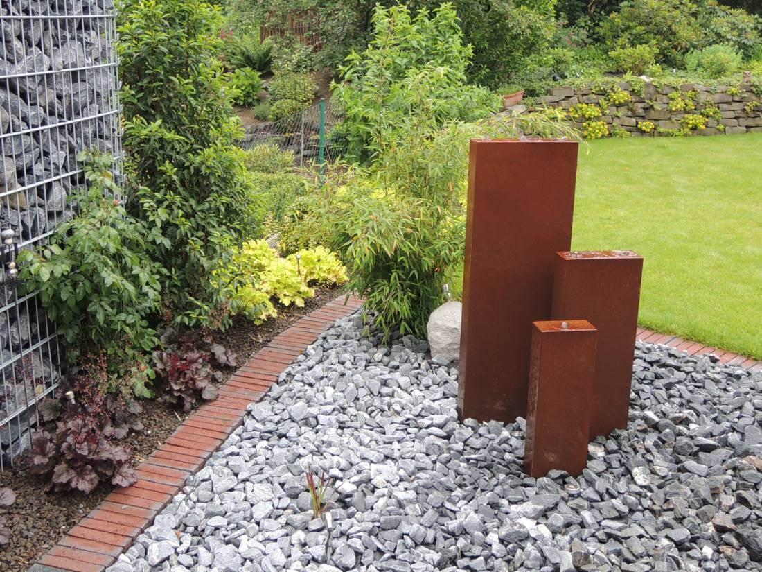 wasserspiele quellsteine | galabau mähler | brunnen garten - Wasserspiele Im Garten Edelstahl