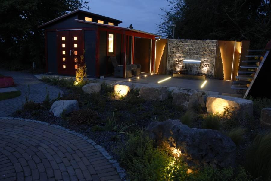 garten beleuchten galabau m hler gartenbeleuchtung. Black Bedroom Furniture Sets. Home Design Ideas
