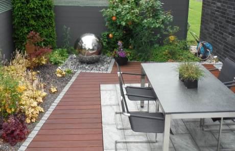 Terrasse mit Bambus