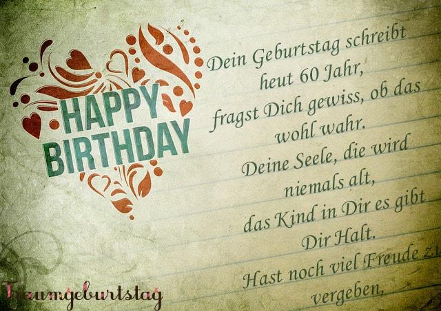 Lll Gedichte Zum 60 Geburtstag Kurze Und Lustige