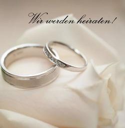 1 Tischkarte Platzkarte Wunschgravur Zur Hochzeit Motiv Ringe