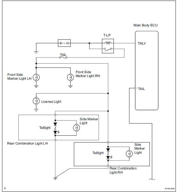 toyota rav4 service manual taillight relay circuit  data