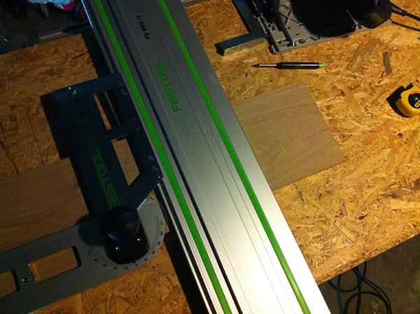 Travailler le bois table chêne Festool