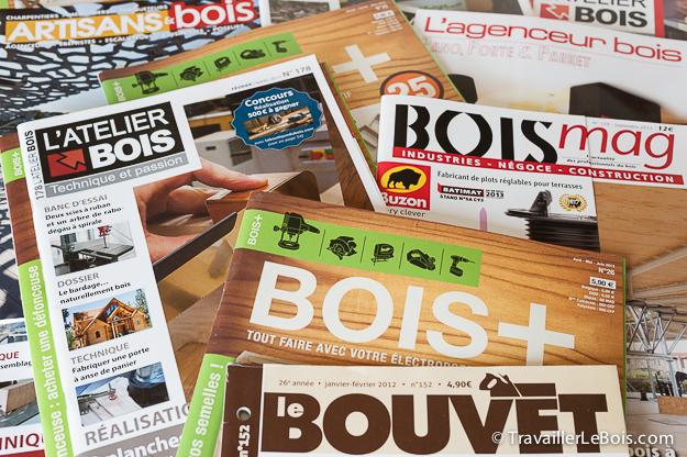 Magazines sur le bois
