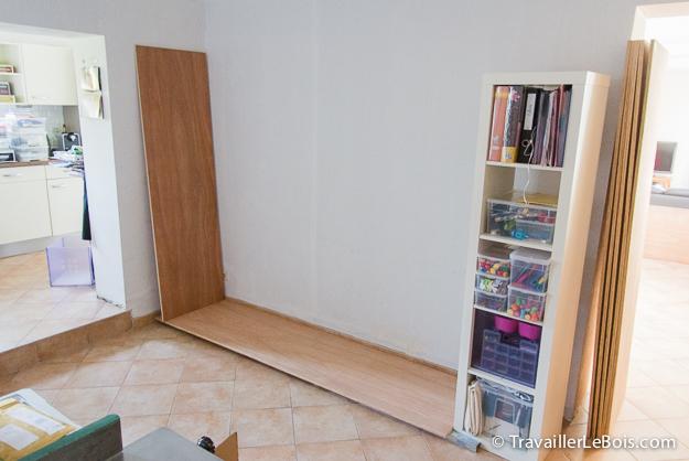 Fabrication d 39 un placard 1 re partie travailler le bois - Comment fabriquer un caisson en bois ...