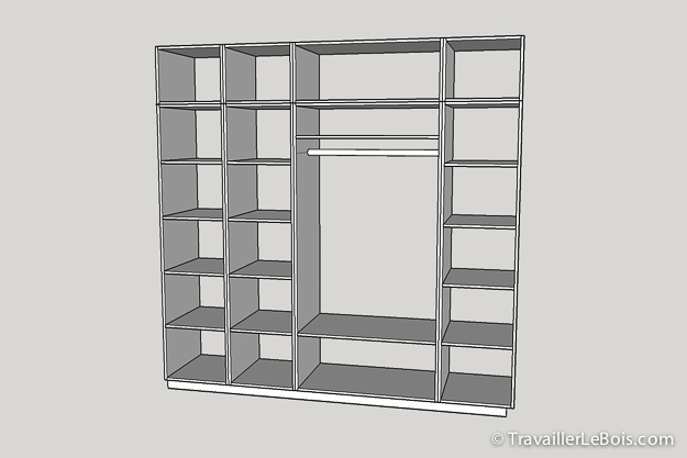 Fabrication d 39 un placard 1 re partie travailler le bois - Fabriquer caisson armoire ...
