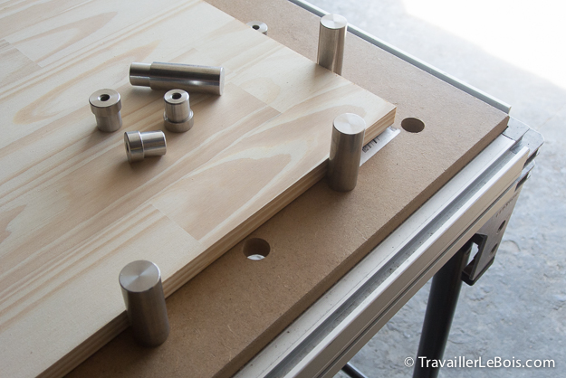 Fabrication tablettes placard