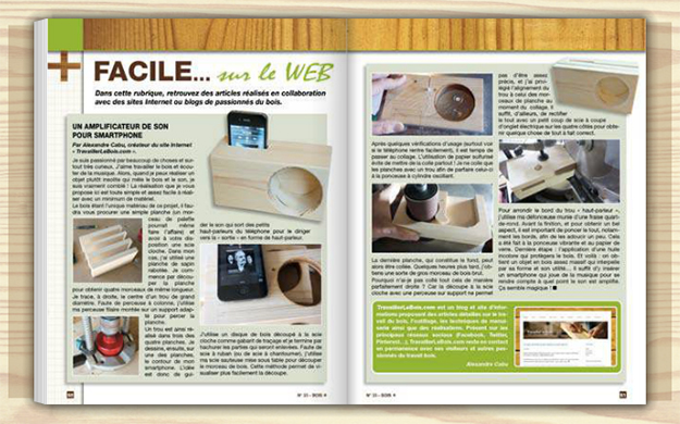 TravaillerLeBois.com dans le magazine Bois+