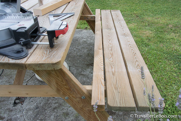 Rallonge de banc pour table pique-nique en bois