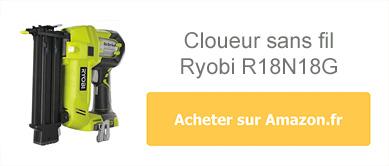 Acheter le cloueur sans fil Ryobi R18N18G sur Amazon.fr