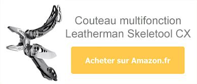 Acheter le couteau multifonction Leatherman Skeletool sur Amazon
