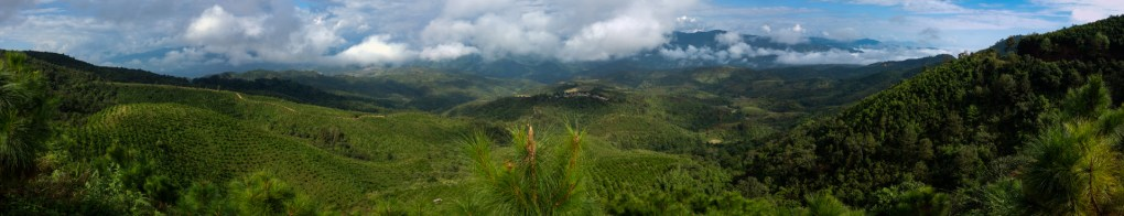 Countryside in the mountains outside Kengtung