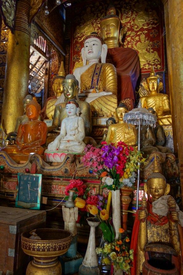 Buddhist temple in a hill tribe village between Kengtung and the Chinese border
