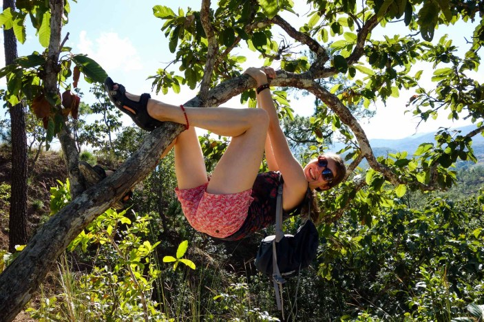 Climbing and hiking in the Pai Canyon