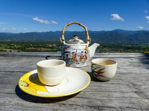 Tea on the mountain top