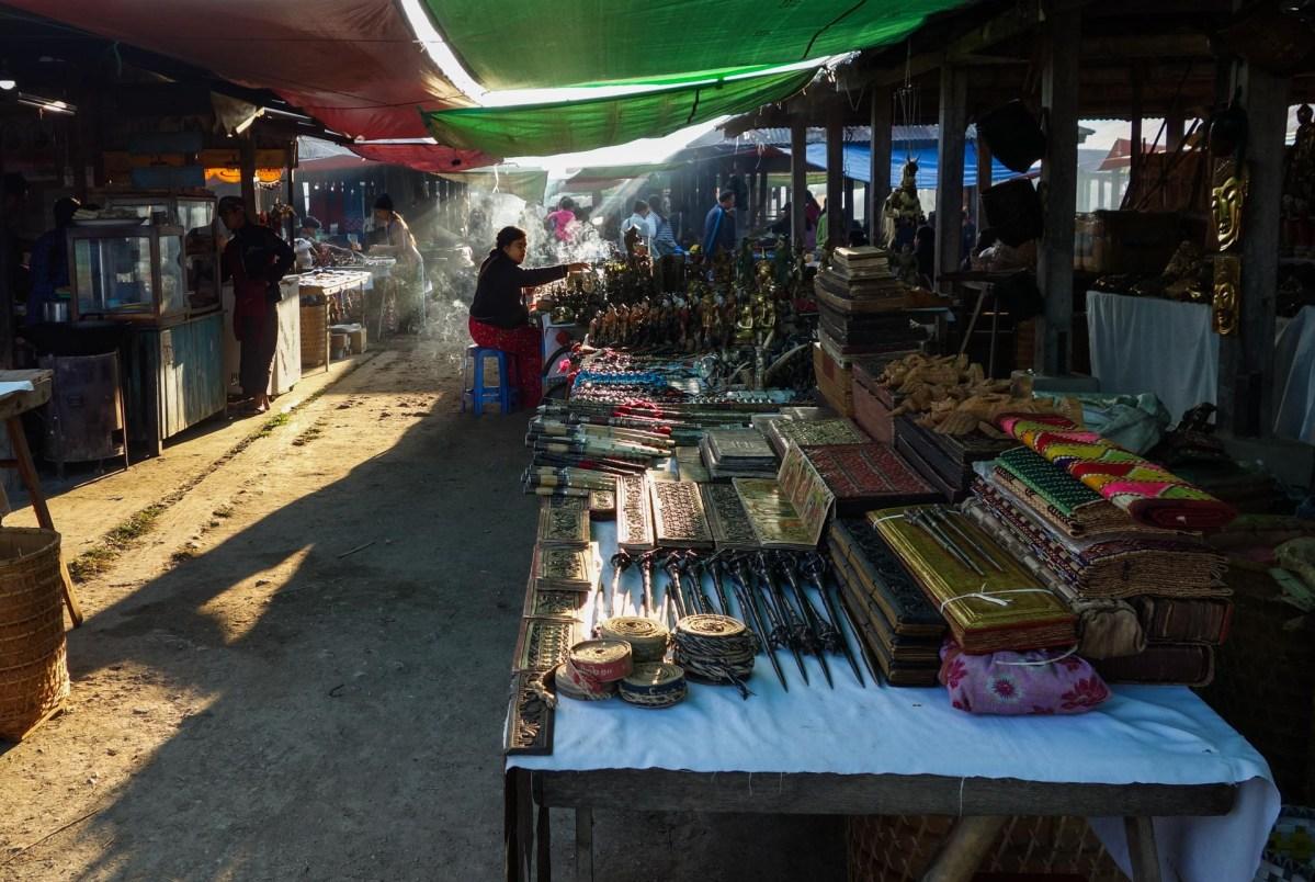 Nanpan market in the south of Inle Lake