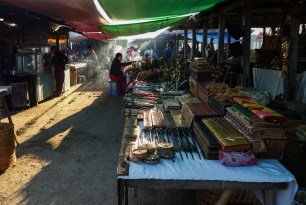 Nanpan market in the south of Inle Lake