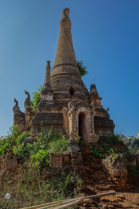 Temple close to In Dein, Inle Lake, Myanmar (Burma)