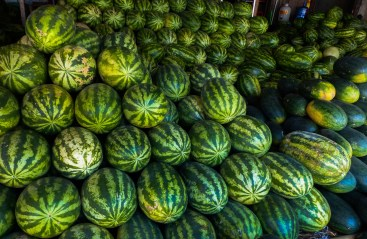 Water melons at Zeigyi Market in Mawlamyine