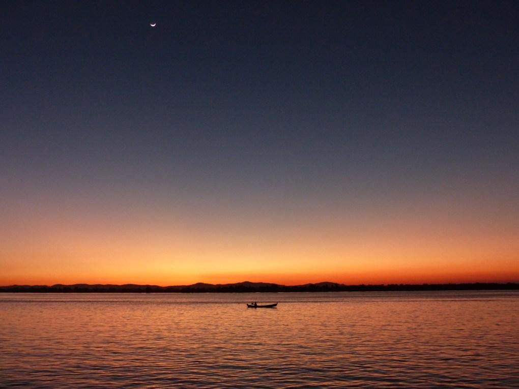 Sunset over the waterfront of Mawlamyine