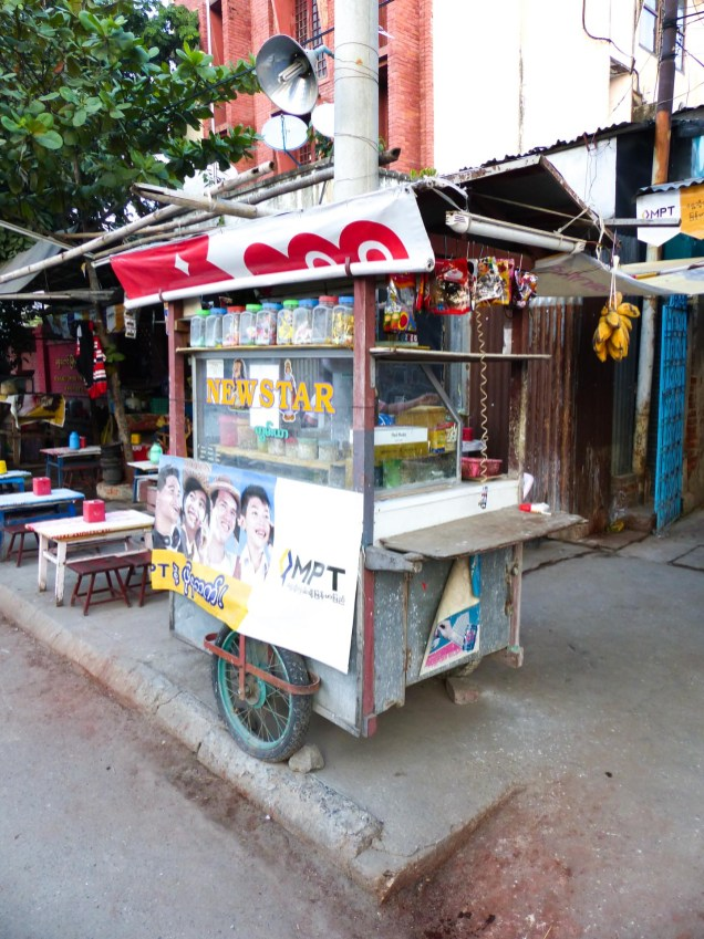 Betel nut Paan stand in Mandalay