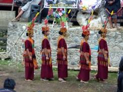 Tana Toraja Funeral Ceremony - village women in traditional clothes preparing for chanting Christian Jansen & Maria Düerkop
