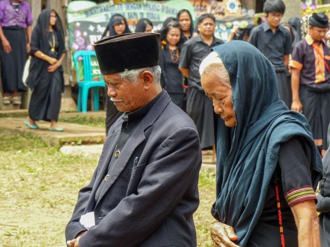 Tana Toraja Funeral Ceremony - funeral guests Christian Jansen & Maria Düerkop