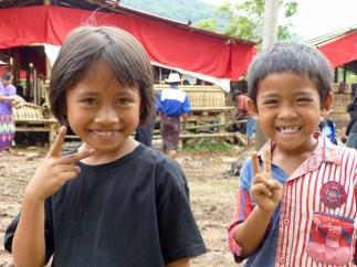 Tana Toraja Funeral Ceremony - happy kids Christian Jansen & Maria Düerkop