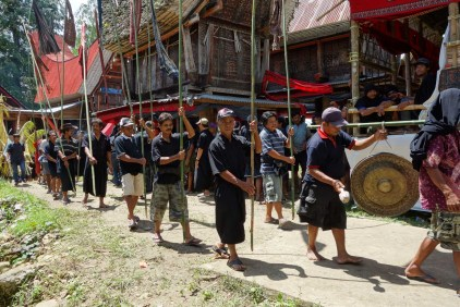 Tana Toraja Funeral Ceremony - coffin parade through the village Christian Jansen & Maria Düerkop