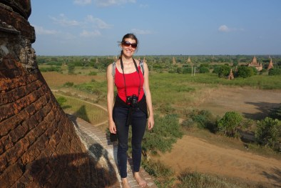Maria on the roof of a Bagan temple Christian Jansen & Maria Düerkop
