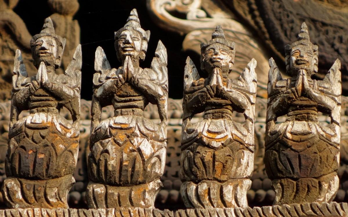 Mandalay - Teak monastery roof detail Christian Jansen & Maria Düerkop