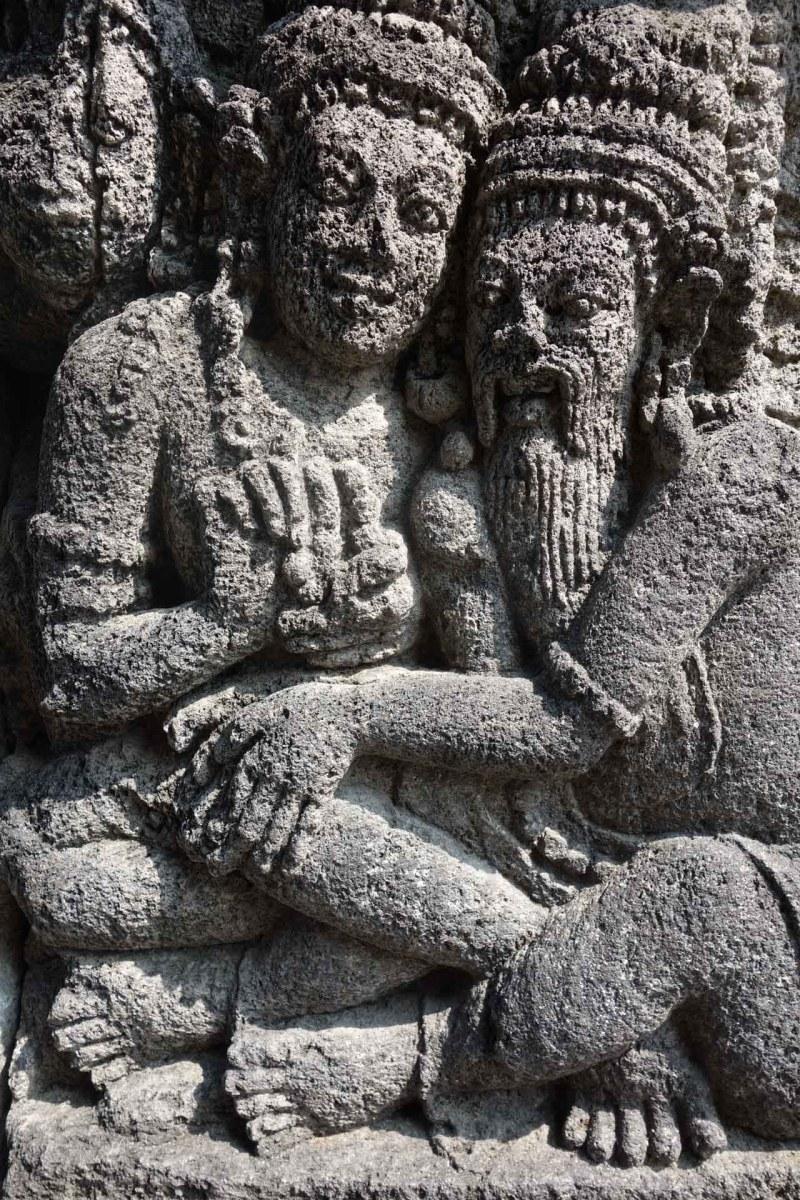 Yogyakarta - Prambanan temples: relief detail Christian Jansen & Maria Düerkop