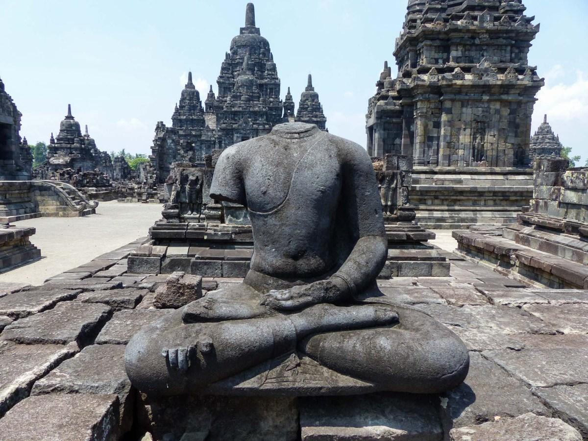 Yogyakarta - Prambanan temples: Beheaded Buddha Christian Jansen & Maria Düerkop