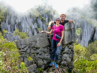 Mulu National Park - Maria and Chris at the Pinnacles Christian Jansen & Maria Düerkop