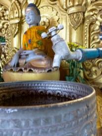 Yangon - Birthday shrine water tap Christian Jansen & Maria Düerkop