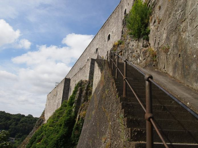 Stairway to the Citadel in Dinant, Belgium
