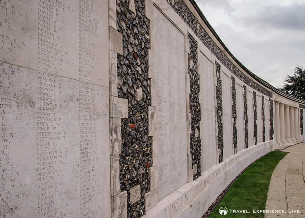 Tyne Cot War Cemetery names