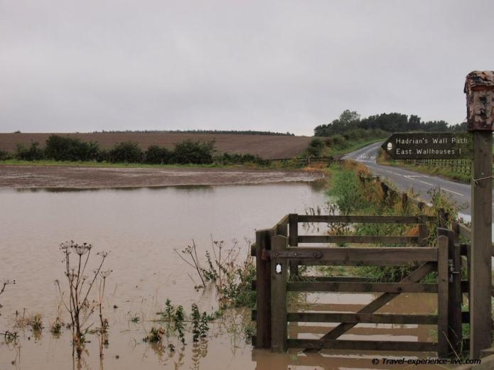 Floodings on Hadrian's Wall Path