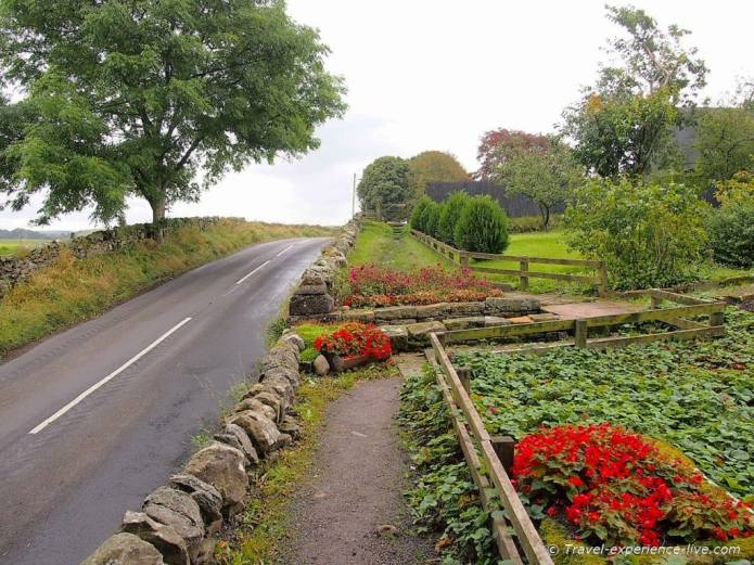 Country roads in northern England