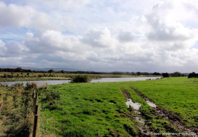 River Eden near Carlisle on Hadrian's Wall Path