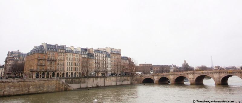 Parisian architecture along the Seine.