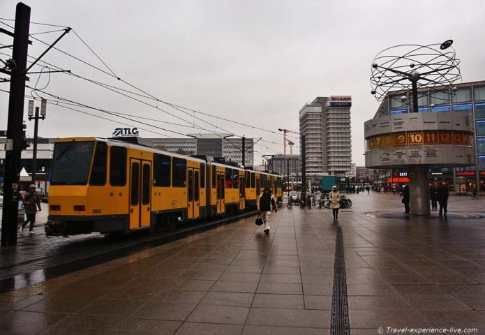Alexanderplatz in Berlin, Germany.
